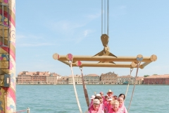 Pink Lioness in Venice