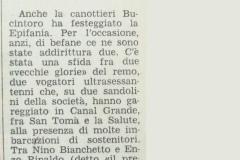 Primo Articolo sulle Befane  1978