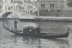 Rome De Gregori in gondola 1929