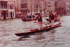 Veneta in Canal Grande Vogalonga anni 70