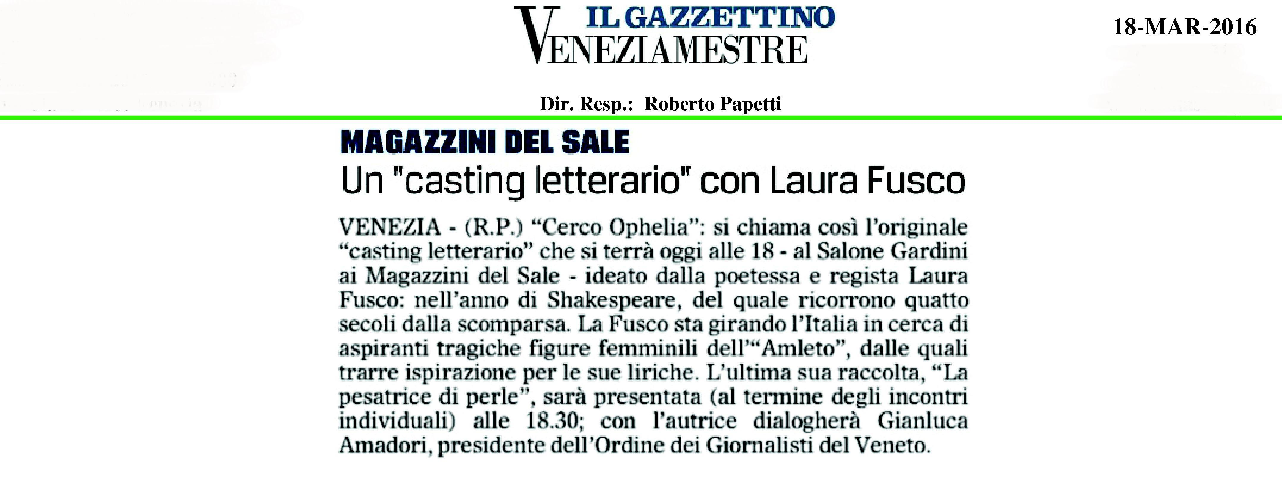 Un casting letterario con Laura Fusco