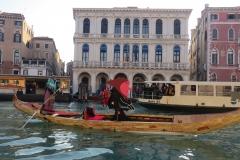 Angelo Boscolo alla Regata delle Befane Venezia 2019