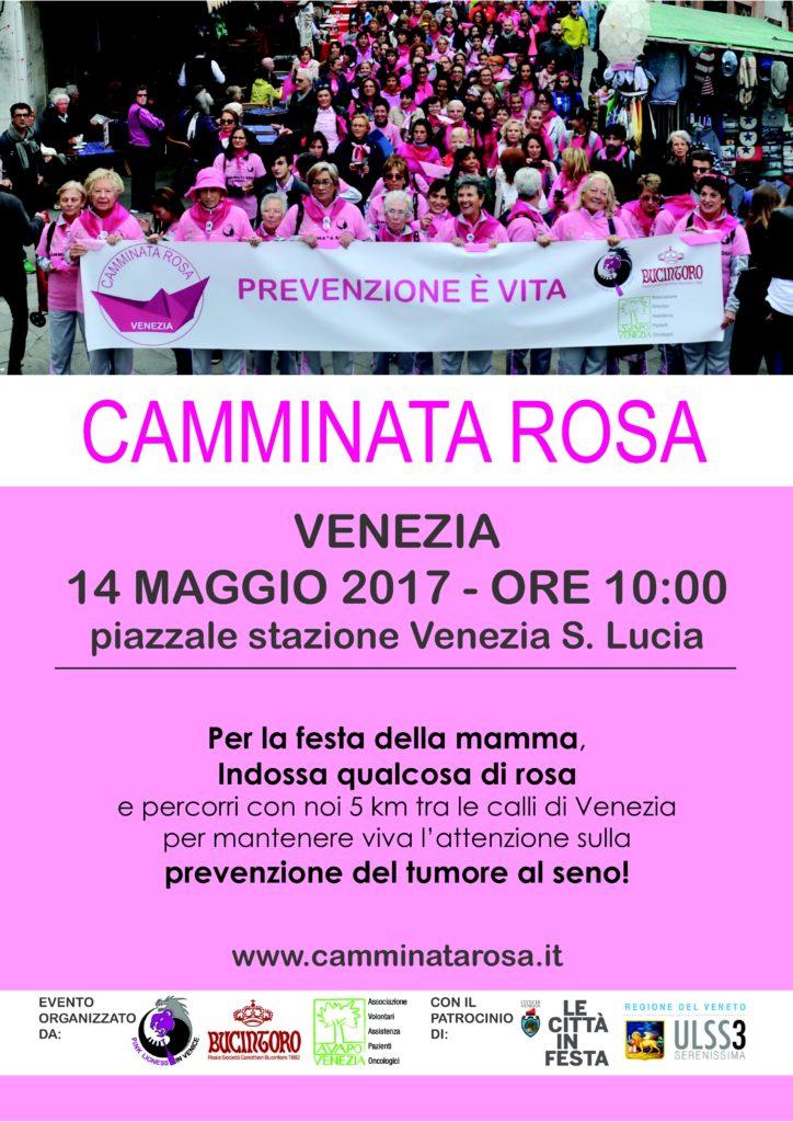Venezia 14 maggio 2017, ore 10, Piazzale Stazione S. Lucia. Per la festa della mamma indossa qualcosa di rosa e percorri con noi 5 km tra le calli di Venezia per la prevenzione del tumore al seno